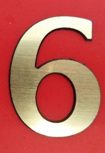 Цифра 6 - 5 см